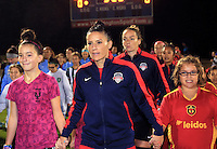 Boyds, MD - Friday Sept. 30, 2016: Ali Krieger prior to a National Women's Soccer League (NWSL) semi-finals match between the Washington Spirit and the Chicago Red Stars at Maureen Hendricks Field, Maryland SoccerPlex. The Washington Spirit won 2-1 in overtime.