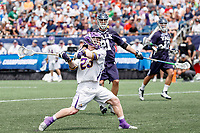 Jack Burgmaster (#23) lines up to fire a goal as Yale defeats UAlbany 20-11 in the NCAAA semifinal game at Gillette Stadium, May 26.