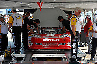 Moving the car through inspection.