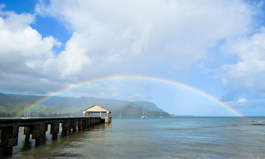 Rainbow over Hanalei
