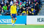 ****BETALBILD**** <br /> Stockholm 2015-04-08 Fotboll Landskamp Damer , Sverige - Danmark :  <br /> Sveriges Kosovare Asllani ser nedst&auml;md ut n&auml;r hon byts ut under matchen mellan Sverige och Danmark <br /> (Photo: Kenta J&ouml;nsson) Keywords:  Sweden Sverige Denmark Danmark Landskamp Dam Damer Tele2 Arena Stockholm depp besviken besvikelse sorg ledsen deppig nedst&auml;md uppgiven sad disappointment disappointed dejected byte inhopp avbytare utbytt