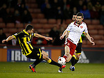 John Mousinho of Burton Albion tackles Chris Basham of Sheffield Utd - English League One - Sheffield Utd vs Burton Albion - Bramall Lane Stadium - Sheffield - England - 1st March 2016 - Pic Simon Bellis/Sportimage