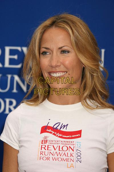 SHERY CROW .14th Annual Entertainment Industry Foundation Revlon Run/Walk For Women held at The Los Angeles Memorial Coliseum, Los Angeles, California, USA,.12 May 2007..portrait headshot white t-shirt.CAP/ADM/RE.©Russ Elliot/AdMedia/Capital Pictures.