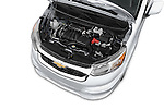 Car Stock2015 Chevrolet City Express LT 5 Door Cargo Van Engine high angle detail view