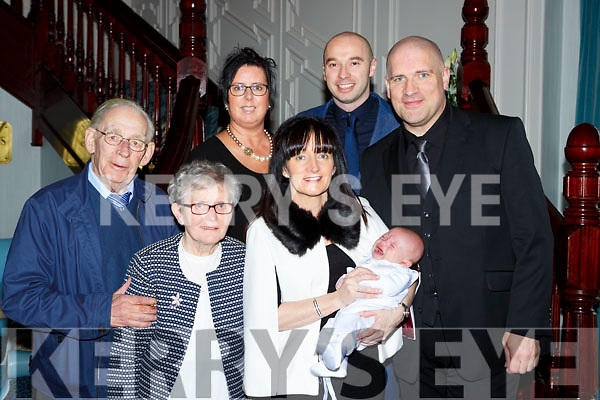 Daniel Anthony Flavin Killarney celebrated his christening with hisa parents Elaine O'Shea and David Flavin, grandparents Dan Joe and Anne O'Shea and god parents Colm O'Shea and Edel Flavin in the Killarney Avenue Hotel on Saturday