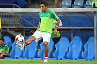 Jorge Luis Guerra Villegas aus Mexiko gut maskiert in den Landesfarben beim Spiel seiner Mannschaft in Sotschi - 21.06.2017: Mexiko vs. Neuseeland, Fisht Stadium Sotschi