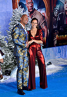 """LOS ANGELES, USA. December 10, 2019: Dwayne Johnson & Lauren Hashian at the world premiere of """"Jumanji: The Next Level"""" at the TCL Chinese Theatre.<br /> Picture: Paul Smith/Featureflash"""