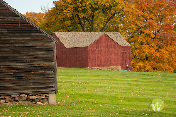 Lyman Homestead Orchards property. Barn. 1864