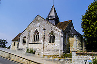 Giverny in France is best known for Claude Monet's garden and home. Old Church.