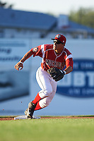 Batavia Muckdogs second baseman Mike Garzillo (11) during a game against the Aberdeen Ironbirds on July 14, 2016 at Dwyer Stadium in Batavia, New York.  Aberdeen defeated Batavia 8-2. (Mike Janes/Four Seam Images)