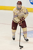 Patrick Brown (BC - 23) - The Boston College Eagles defeated the University of Denver Pioneers 6-2 in their NCAA Northeast Regional semi-final on Saturday, March 29, 2014, at the DCU Center in Worcester, Massachusetts.