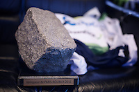 THE cobble that Mathew Hayman (AUS/Orica-GreenEDGE) won back in the Orica-GreenEDGE teambus<br /> <br /> 114th Paris-Roubaix 2016