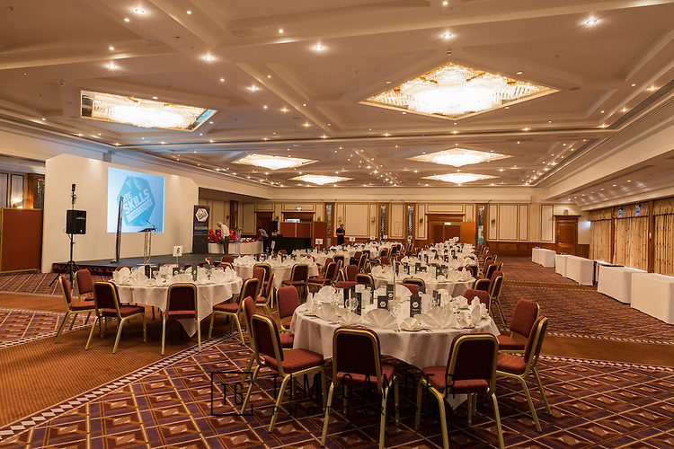 17/07/2015 The IRTE Skills Challenge 2015 prize-giving takes place at The National Motorcycle Museum, Birmingham. The room and table setting.