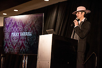 LAS VEGAS, NV - March 13, 2018: ***HOUSE COVERAGE***  Perry Farrell pictured Lollapalooza Creator Perry Farrell, Cary Granat and Ed Jones of Immersive Artistry and Caesars Entertainment join forces for Kind Heaven and Unveil plans to the media at The Line Vortex in Las Vegas on March 13, 2018. . Credit: GDP Photos/ MediaPunch