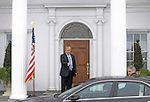 United States President-elect Donald Trump (L) gestures goodbye to Ari Emanuel at the clubhouse of Trump International Golf Club, in Bedminster Township, New Jersey, USA, 20 November 2016.<br /> Credit: Peter Foley / Pool via CNP
