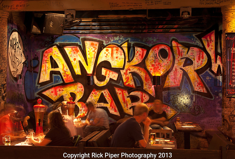 """Angkor What? - Evening in the """"Angkor What?"""" bar in Siem Reap, Cambodia"""