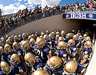 The Football team enters Notre Dame Stadium for the season opener against Purdue, Sept. 4, 2010.
