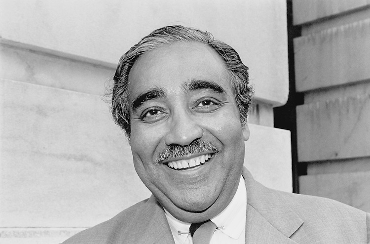"Portrait of Charles Bernard ""Charlie"" Rangel, D- N.Y., House of Representatives Member. June 11, 1990 (Photo by Maureen Keating/CQ Roll Call)"