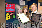 GERM WARFARE: Niamh Joy and Aisling O'Shea from the Intermediate School Killorglin with their project 'Germ warfare taking place in a soil near you' at the annual SciFest Science and Technology Fair held in the ITT on Tuesday.