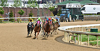LOUISVILLE, KY - MAY 04: The field entering the turn during the running of the La Troienne, an undercard race on Kentucky Oaks Day at Churchill Downs on May 4, 2018 in Louisville, Kentucky. (Photo by Dan Heary/Eclipse Sportswire/Getty Images)