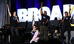 "Jordan Fife Hunt, Lesli Margherita,  Dwelvan David and Tanisha Moore from ""Emojiland"" during the BroadwayCON 2020 First Look at the New York Hilton Midtown Hotel on January 24, 2020 in New York City."