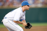 UCLA's 3B Dean Espy in Game 6 of the NCAA Division One Men's College World Series on Monday June 21st, 2010 at Johnny Rosenblatt Stadium in Omaha, Nebraska.  (Photo by Andrew Woolley / Four Seam Images)