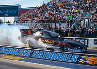 Oct 13, 2018; Concord, NC, USA; NHRA funny car driver Jonnie Lindberg during qualifying for the Carolina Nationals at zMax Dragway. Mandatory Credit: Mark J. Rebilas-USA TODAY Sports