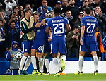 Chelsea's Cesar Azpilicueta celebrates scoring his sides third goal during the champions league match at Stamford Bridge Stadium, London. Picture date 12th September 2017. Picture credit should read: David Klein/Sportimage