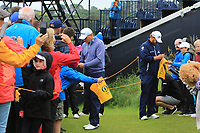 James Sugrue (IRL)(AM) signing autographs during the preview of the the 148th Open Championship, Portrush golf club, Portrush, Antrim, Northern Ireland. 17/07/2019.<br /> Picture Thos Caffrey / Golffile.ie<br /> <br /> All photo usage must carry mandatory copyright credit (© Golffile | Thos Caffrey)