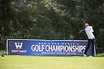April 14, 2014; Bremerton, WA, USA; Pepperdine Waves golfer David Pelekoudas during the WCC Golf Championships at Gold Mountain Golf Club.