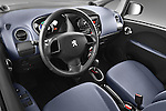 High angle dashboard view of a 2012 Peugeot iOn