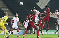 Leroy Fer of Swansea City scores his sides second goal of the match during the Carabao Cup Second Round match between MK Dons and Swansea City at StadiumMK, Milton Keynes, England, UK. 22 August 2017
