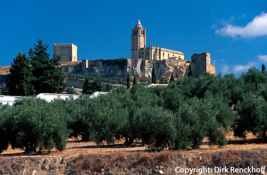 Spanien, Andalusien, Castillo de la Mota in Alcacala de la Real in der Provinz Jaen