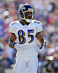 21 October 2007: Baltimore Ravens wide receiver Derrick Mason in action against the Buffalo Bills at Ralph Wilson Stadium in Orchard Park, NY. The Bills defeated the Ravens 19-14 in front of 70,727 fans marking their second win of the 2007 season...Mandatory Photo Credit: Ed Wolfstein Photo
