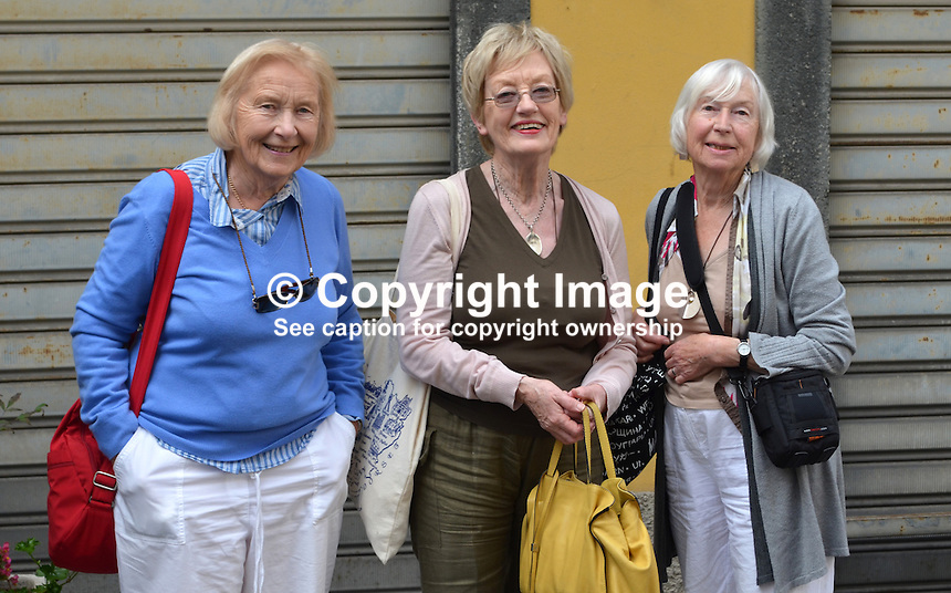Bellagio, Italy, 4th October - Anne Hancock, Hazel Patterson, Molly ???<br /> 201410043667<br /> <br /> Copyright Image from Victor Patterson, 54 Dorchester Park, Belfast, UK, BT9 6RJ<br /> <br /> t: +44 28 9066 1296<br /> m: +44 7802 353836<br /> vm +44 20 8816 7153<br /> <br /> e1: victorpatterson@me.com<br /> e2: victorpatterson@gmail.com<br /> <br /> www.victorpatterson.com<br /> <br /> IMPORTANT: Please see my Terms and Conditions of Use at www.victorpatterson.com