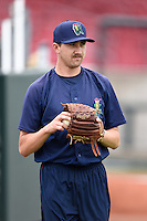 Cedar Rapids Kernels pitcher Sam Gibbons (26) during practice before the first game of a doubleheader against the Kane County Cougars on May 10, 2016 at Perfect Game Field in Cedar Rapids, Iowa.  Kane County defeated Cedar Rapids 2-0.  (Mike Janes/Four Seam Images)