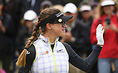30th September 2017, Windross Farm, Auckland, New Zealand; LPGA McKayson NZ Womens Open, third round;  Belen Mozo at the first tee