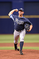 Tampa Bay Rays pitcher Hyrum Formo (82) during an Instructional League game against the Boston Red Sox on September 25, 2014 at Tropicana Field in St. Petersburg, Florida.  (Mike Janes/Four Seam Images)
