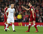 Radja Nainggolan of AS Roma and Jordan Henderson of Liverpool during the Champions League Semi Final 1st Leg match at Anfield Stadium, Liverpool. Picture date: 24th April 2018. Picture credit should read: Simon Bellis/Sportimage