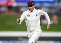 2nd December, Hamilton, New Zealand; Joe Root fielding on day 4 of the 2nd test cricket match between New Zealand and England  at Seddon Park, Hamilton, New Zealand.
