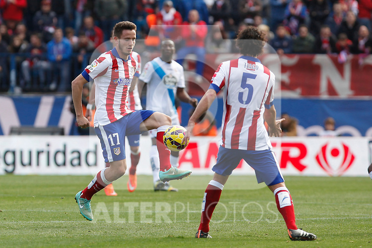 Atletico de Madrid´s Saul Niguez during 2014-15 La Liga match between Atletico de Madrid and Deportivo de la Coruña at Vicente Calderon stadium in Madrid, Spain. November 30, 2014. (ALTERPHOTOS/Victor Blanco)