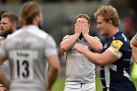 Ross Batty of Bath Rugby looks dejected after the final whistle. Aviva Premiership match, between Sale Sharks and Bath Rugby on May 6, 2017 at the AJ Bell Stadium in Manchester, England. Photo by: Patrick Khachfe / Onside Images
