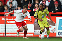Lee Williamson of Sheffield United escapes from Scott Laird of Stevenage. - Stevenage v Sheffield United - npower League 1 Play-off semi-final 1st leg - Lamex Stadium, Stevenage  - 11th May, 2012. © Kevin Coleman 2012