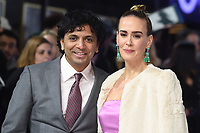 "M. Night Shyamalan and Sarah Paulson<br /> arriving for the ""Glass"" premiere at the Curzon Mayfair, London<br /> <br /> ©Ash Knotek  D3470  09/01/2019"