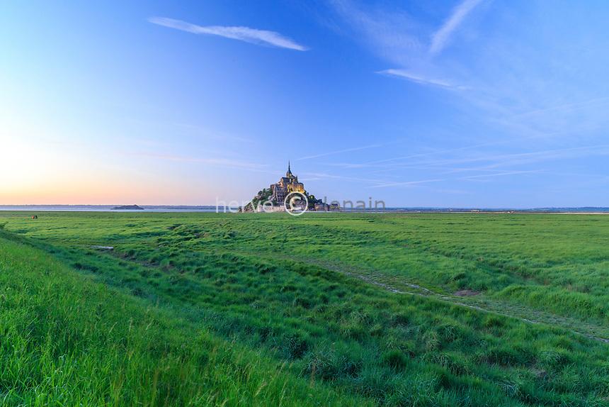 France, Manche (50), Baie du Mont Saint-Michel classée Patrimoine Mondial de l'UNESCO, le Mont Saint-Michel // France, Manche, Mont Saint Michel Bay, listed as World Heritage by UNESCO, Mont Saint Michel