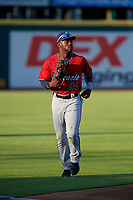 Fort Myers Miracle left fielder Akil Baddoo (24) during a Florida State League game against the Bradenton Marauders on April 23, 2019 at LECOM Park in Bradenton, Florida.  Fort Myers defeated Bradenton 2-1.  (Mike Janes/Four Seam Images)