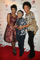 NEW YORK, NY - JANUARY 28: Angela Bassett, Ruby Dee and Cherise Boothe at the premiere of Betty & Coretta at Tribeca Cinemas on January 28, 2013 in New York City. Credit RW/MediaPunch Inc. /NortePhoto