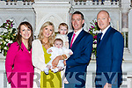Little Adam O'Callaghan, Castleisland celebrated his christening with his parents Aidan and Denise, big sister Georgie and god parents Ciaran and Lisa O'Callaghan in st Stephen and John church Castleisland on Sunday