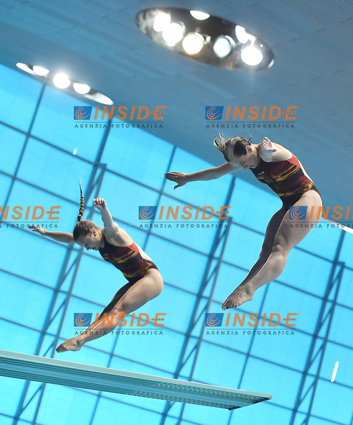 PUNZEL Tina SUBSCHINSKI Nora GER<br /> Men's 10m Platform Final <br /> London, Queen Elizabeth II Olympic Park Pool <br /> LEN 2016 European Aquatics Elite Championships <br /> Diving  <br /> Day 07 15-05-2016<br /> Photo Andrea Staccioli/Deepbluemedia/Insidefoto