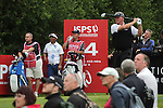 Darren Clarke hits his tee shot on the 14th hole during the opening round of the ISPS Handa Wales Open 2013 at the Celtic Manor Resort<br /> <br /> 29.08.13<br /> <br /> ©Steve Pope-Sportingwales